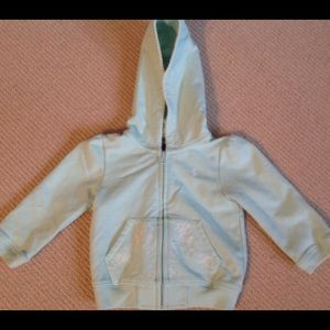 Baby Girl Ralph Lauren Mint Green Zip Hoodie  9 mo